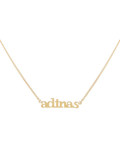Mini Lowercase Nameplate Necklace
