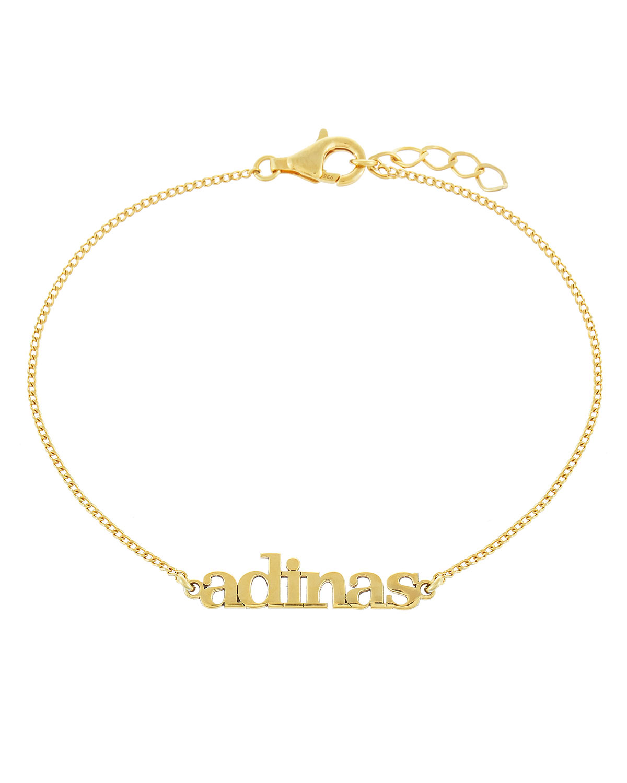 Mini Nameplate Chain Bracelet