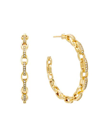 ADINAS JEWELS Cubic Zirconia Chain Hoop Earrings