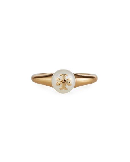 Tory Burch Kira Pearl Ring, Size 6-8