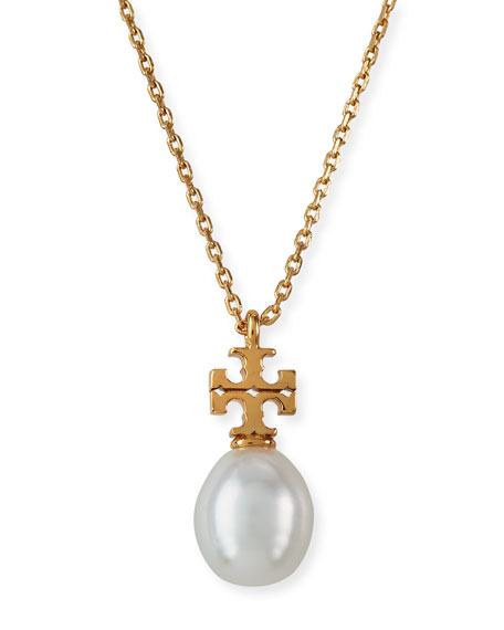 Tory Burch Kira Pearl Pendant Necklace