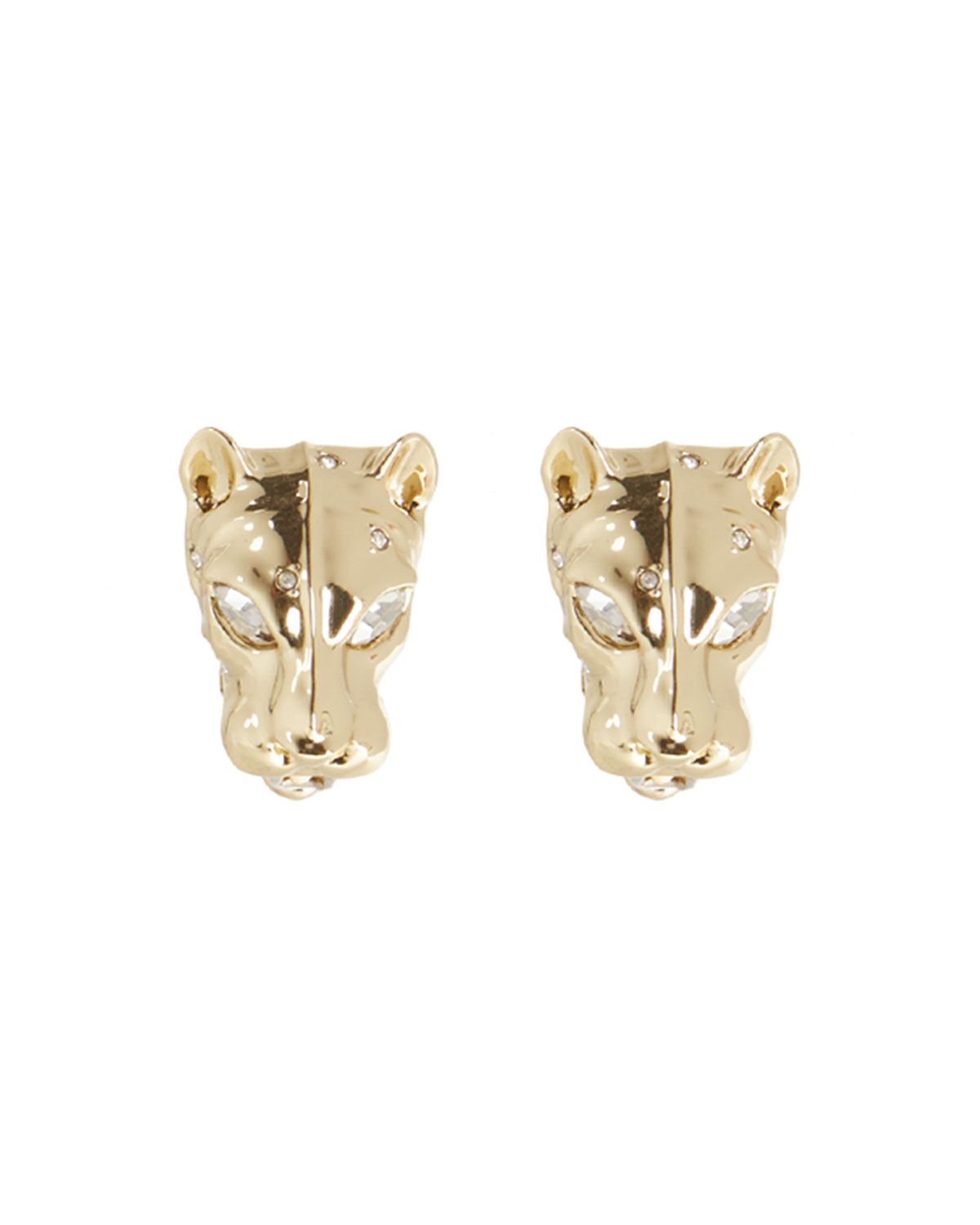 Panther Head Lever-Back Earrings
