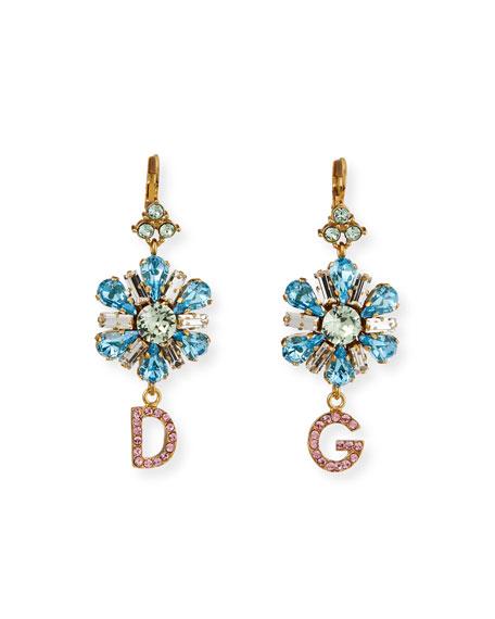 Dolce & Gabbana Crystal Flower DG Earrings