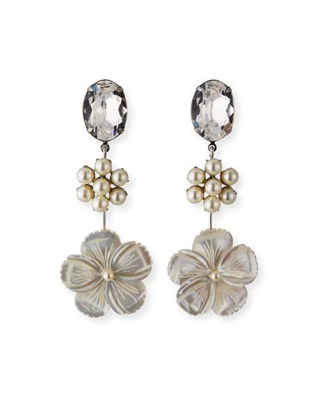 Jennifer Behr Kora Linear Earrings, Pearly