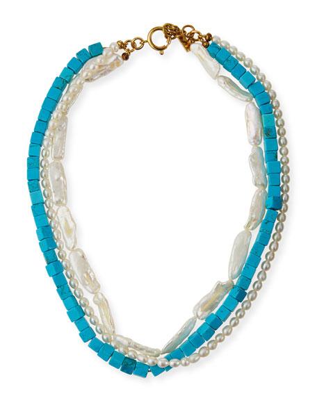 Jennifer Behr Karine 3-Row Necklace