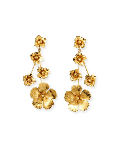 Jennifer Behr Katherine Graduated Flower Earrings