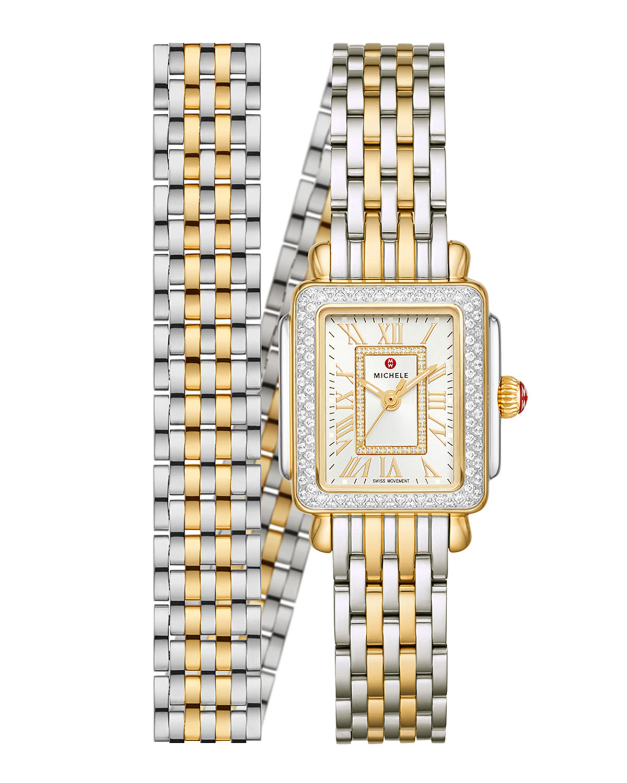 Deco Mini Two-Tone 18k Gold Diamond Watch