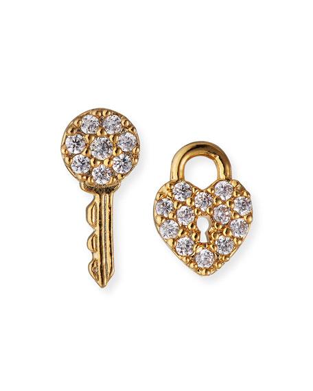 Tai Lock and Key Post Earrings