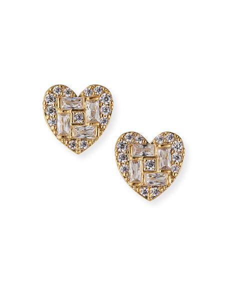 Tai Cubic Zirconia Heart Post Earrings