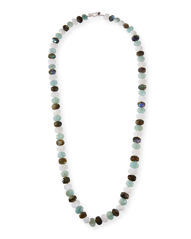 Aquamarine and Mixed-Bead Necklace