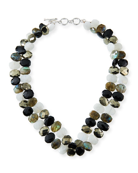 Margo Morrison Labradorite and Mixed-Bead Necklace