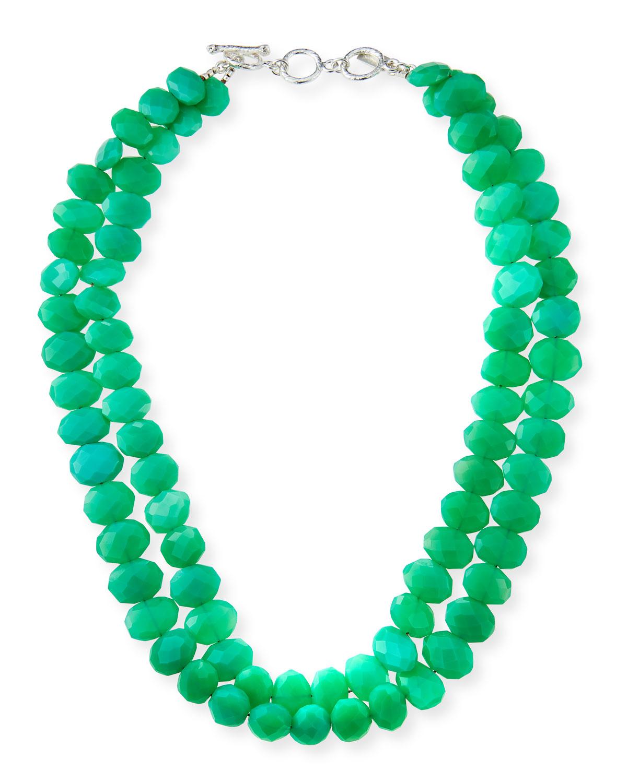 2-Strand Chrysoprase Necklace