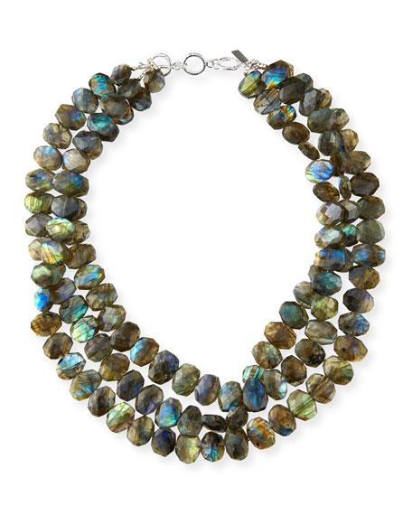 Margo Morrison 3-Strand Labradorite Necklace