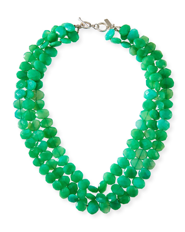 3-Strand Chrysoprase Necklace