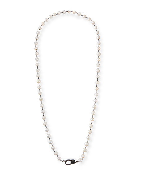 "Margo Morrison Long Pearl Chain Necklace, 35""L"