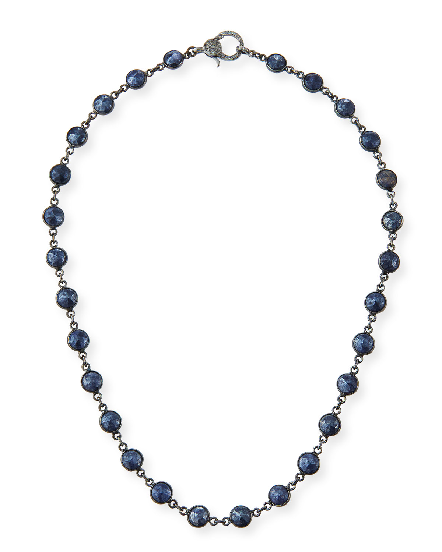 Mystic Blue Moonstone Necklace