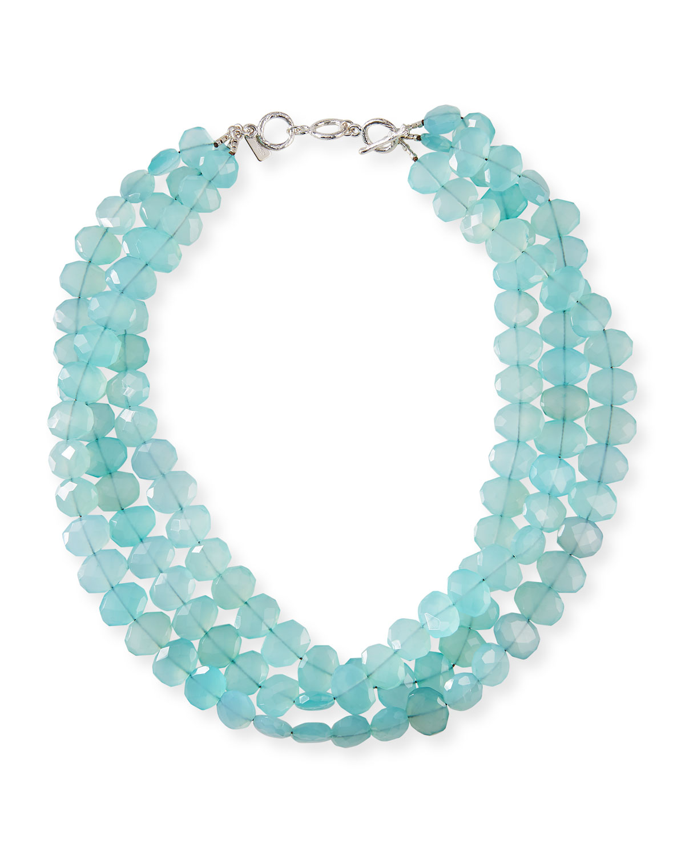 3-Strand Chalcedony Necklace