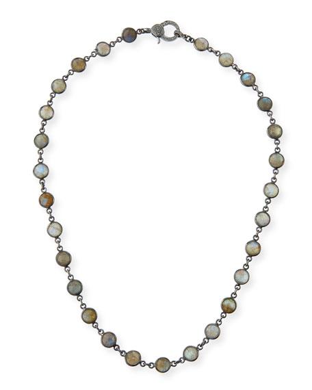 Margo Morrison Labradorite Slice Necklace