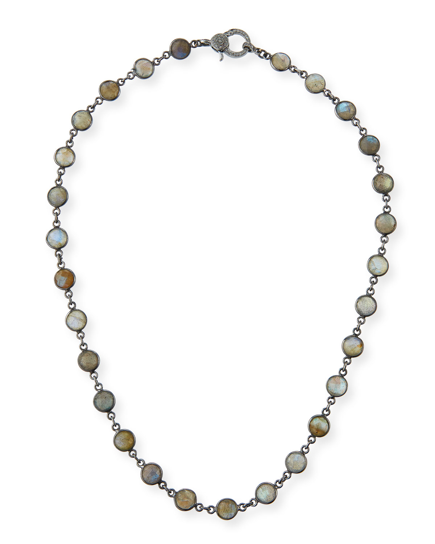 Labradorite Slice Necklace