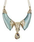 Alexis Bittar Panther Head Bib Necklace