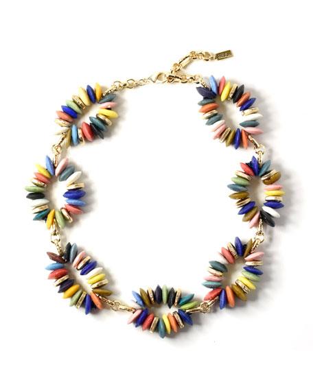 Akola Rainbow Glass-Link Necklace