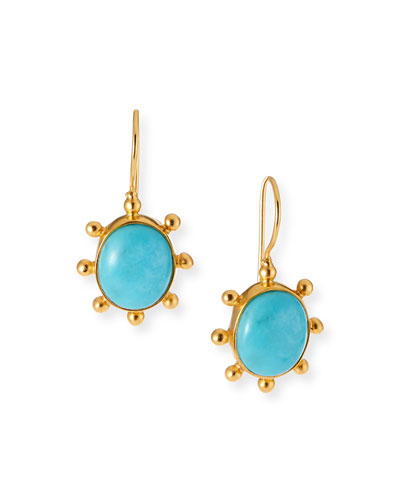Turquoise Pinwheel Earrings