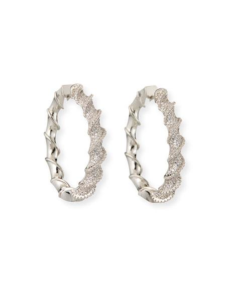 Fallon Helix Pave Hoop Earrings