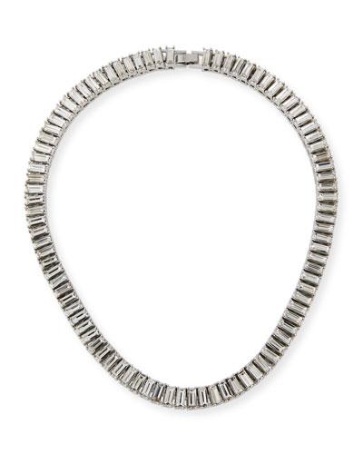 Cubic Zirconia Baguette-Strand Necklace