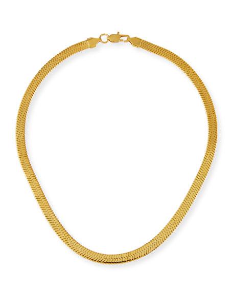 Fallon Wide Herringbone Collar Necklace