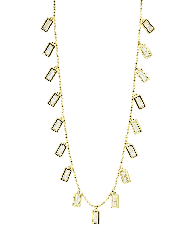 Celestial Baguette Charm Necklace