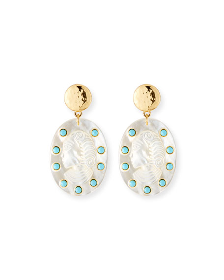NEST Jewelry Hand-Carved Cameo Statement Earrings