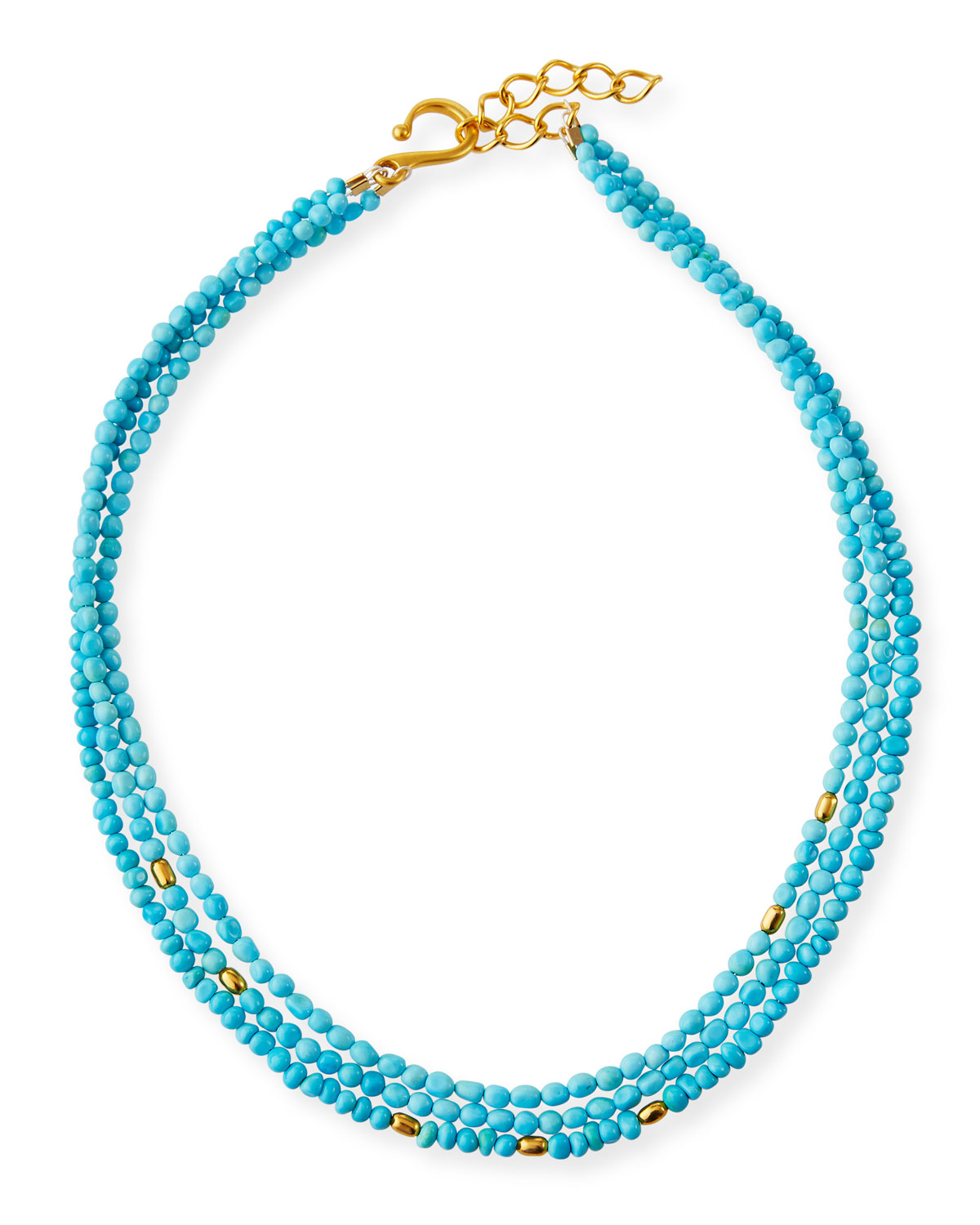 3-Strand Turquoise Necklace