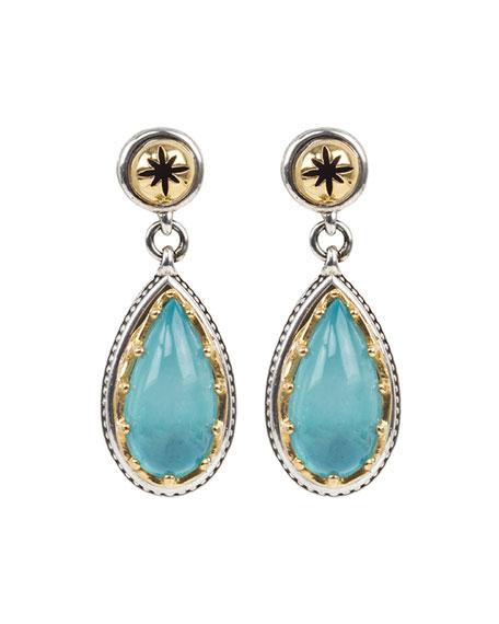 Konstantino Astria Aquamarine Teardrop Earrings