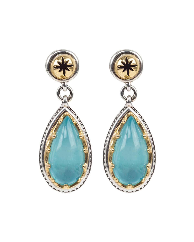 Astria Aquamarine Teardrop Earrings