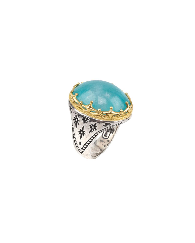 Astria Oval Aquamarine Ring