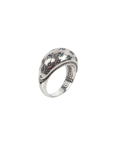 Konstantino Astria Blue Spinel Spectral Constellation Ring, Size 7