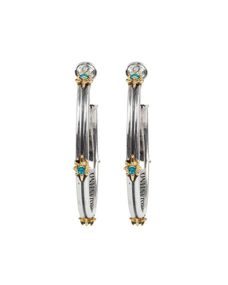 Konstantino Astria Blue Spinel Hoop Earrings