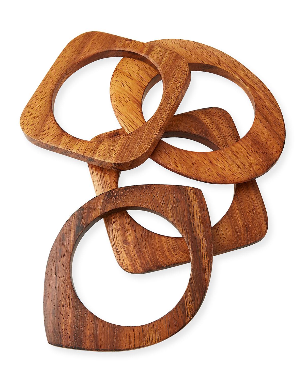 4-Piece Geometric Bangle Set