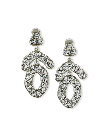 Kenneth Jay Lane Mixed-Shape Crystal Clip Earrings