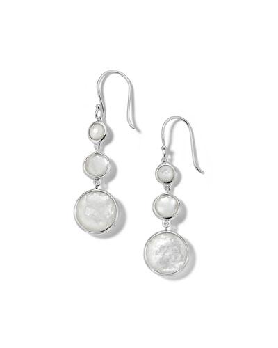 Lollipop Lollitini 3-Stone Drop Earrings in Sterling Silver with ...