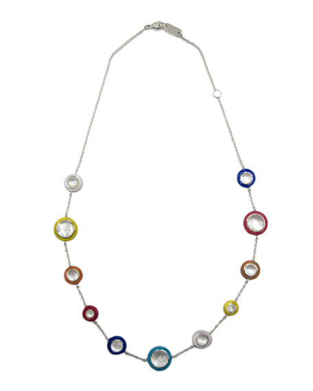 Ippolita Lollipop Carnevale Necklace in Sterling Silver with Mother-of-Pearl Doublets and Ceramic