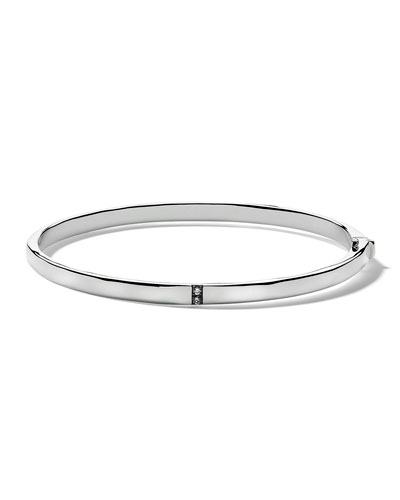 Small Stardust 5-Section Hinged Bangle in Sterling Silver with Diamonds