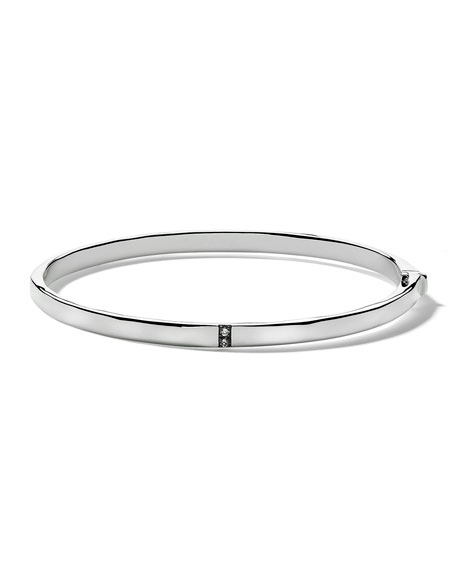 Ippolita Small Stardust 5-Section Hinged Bangle in Sterling Silver with Diamonds