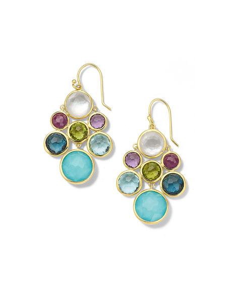 Ippolita 18K Lollipop Multi Stone Cascade Earrings in Rainbow