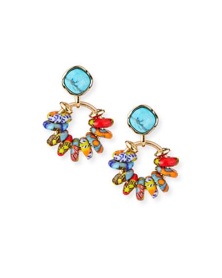 Akola Rainbow Crystal Statement Earrings
