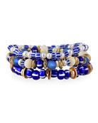 Akola Pearl and Bead Stretch Bracelets, Set of