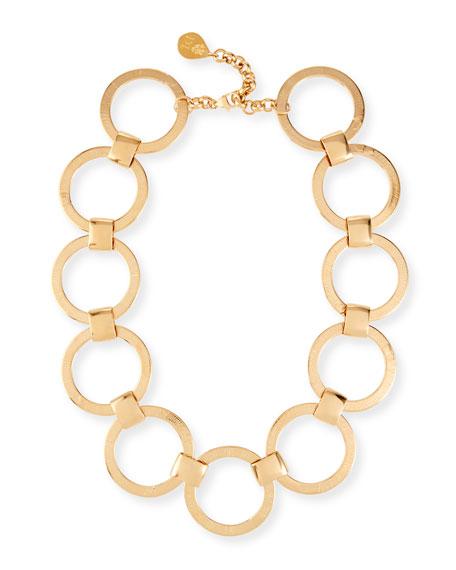 Devon Leigh Circle-Link Collar Necklace