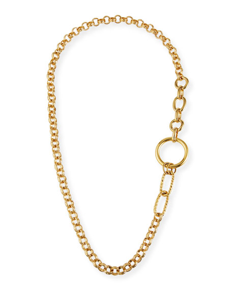 Devon Leigh Long Multilink Chain Necklace