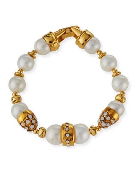 Jose & Maria Barrera Pearly Beaded Bracelet