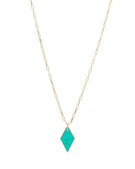 gorjana Corina Pendant Necklace, Turquoise